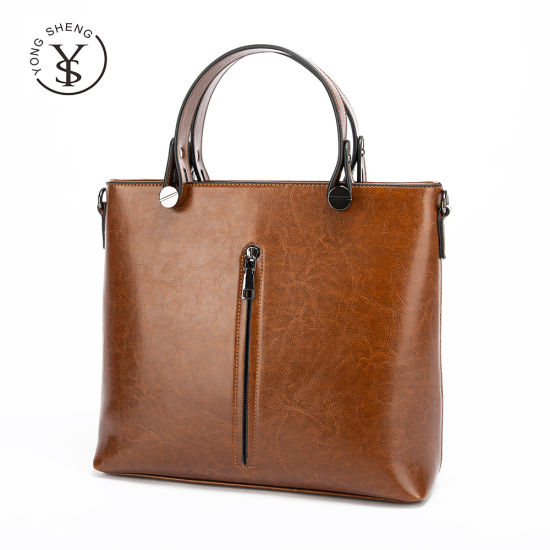 Wholesale Bolsos Cowhide Leather Hand Bags Ladies Tote Bags Crossbody Women Handbags