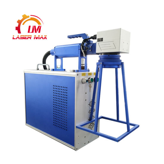 High Quality Handheld Mopa 30W Fiber Color Laser Marking Machine on Metal Permanently Marking Clearly Printing
