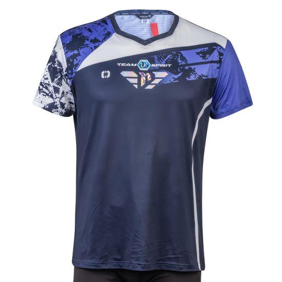 Wholesale Custom Fashion Navy Sublimation Printing Men T-Shirt