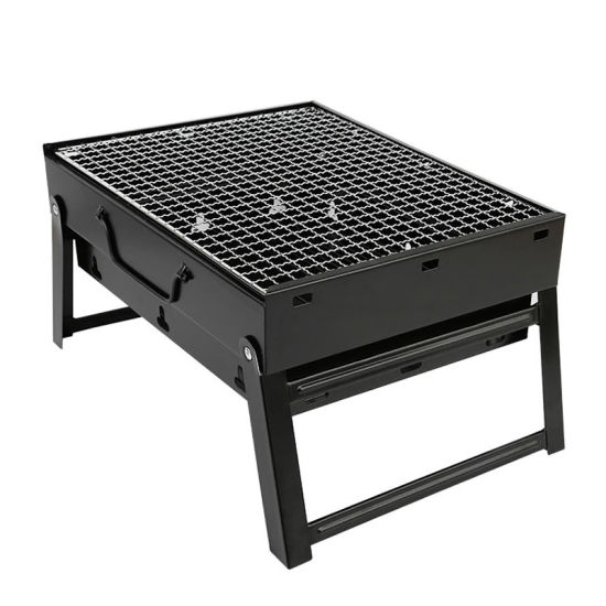 BBQ Tool Set Steel Folding Compact Portable Charcoal BBQ Grill Outdoor Camping Cooker Smoker