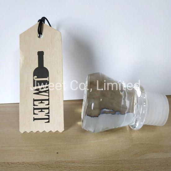 Glass Material Wine Bottle Cork Non Spill Wine Bottle Stopper