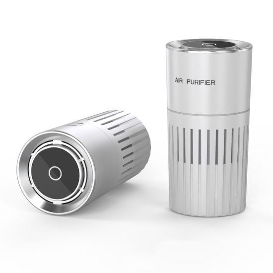 ABS Shell HEPA Filter Clean Air of Anion Negative Ion Fresh Air Portable UVC Sterilization Car Air Purifier