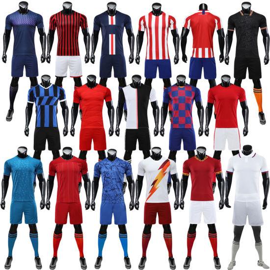 [Hot Item] Thai Quality Club Same Style Football Uniforms Cheap Soccer Jersey Set Uniform Set