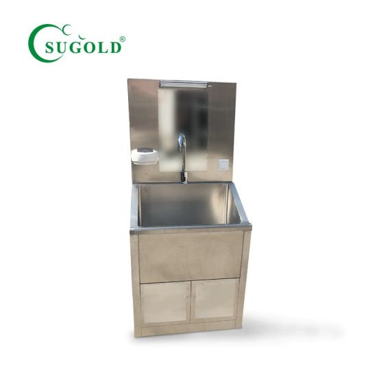 Double Person Medical Stainless Steel Washing Sink pictures & photos