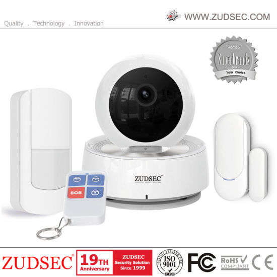 WiFi Camera Alarm System with 1.0 Megapixel, 3.6mm Lens