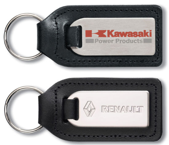 Custom Car Leather Keychain with Metal (YB-LK-08)