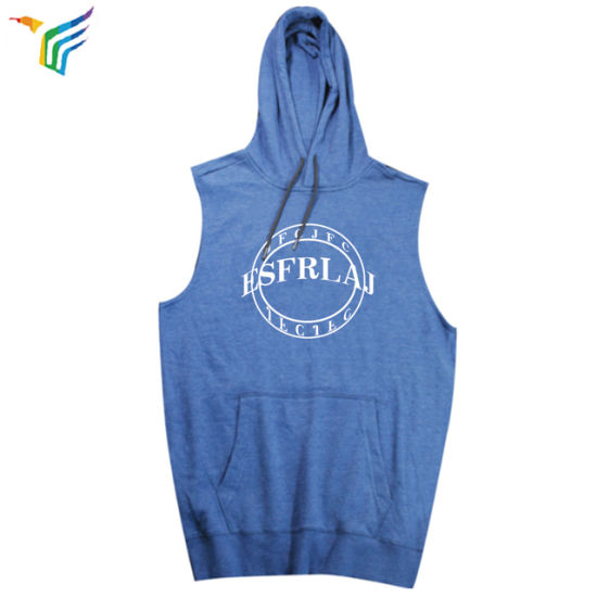 9b5434a0e47ef4 China OEM Wholesale Mens Stringer Vest Fitness Hoodie Sleeveless Gym ...