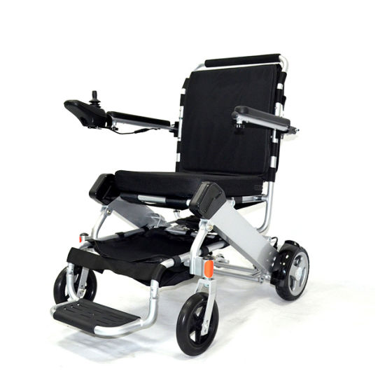 Aluminum Medical Electric Power Wheelchair with Lithium Battery