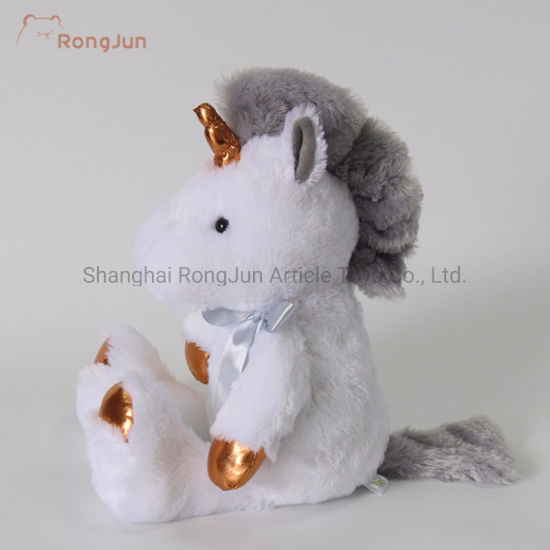 Four Color Standing Unicorn Stuffed Plush Toys