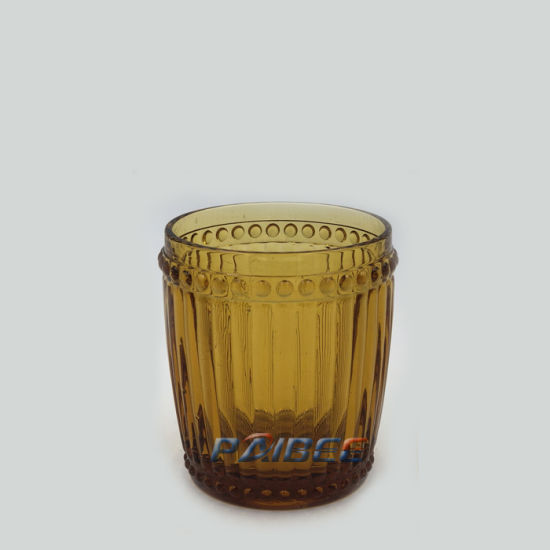 Pattern Vintage Green Colored Wine Glasses Wholesale Whisky Glass Cups for Wine pictures & photos