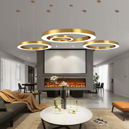 Golden Round Led Pendant Lighting