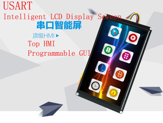 4 3 7 10 Inch Usart TFT LCD Module/HMI, Rtp CTP, Pcap, Serial COM RS232 485  Intercommunication Gui Programmable Touch Display Screen