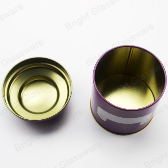 Wholesale High Quality Custom Purple Tin Can for Candle pictures & photos