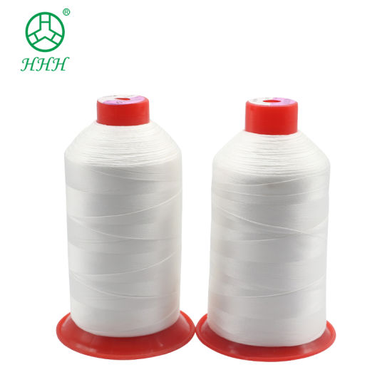 420d/3 White Color Polyester Elastic Filament Yarn Nylon Bonded Thread