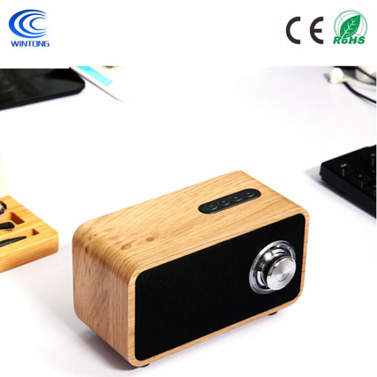 Luxury Sound Box Multimedia Wooden Bt Microphone Speaker with FM Radio