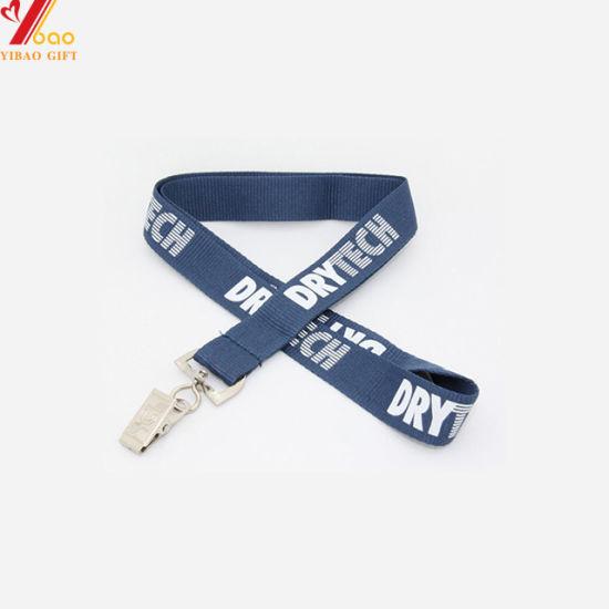 Customized Logo Polyester Ribbon Lanyard