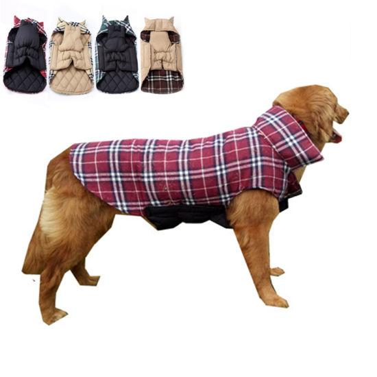 Luxury Wholesale British Style Winter Warm Dog Jacket Fleece Dog Coat