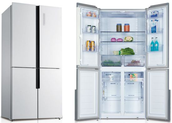 492L Household Home Four Sided Side by Side Refrigerator Mirror Glass Door Fridge with Gems Meps Approved Kdcd-492we