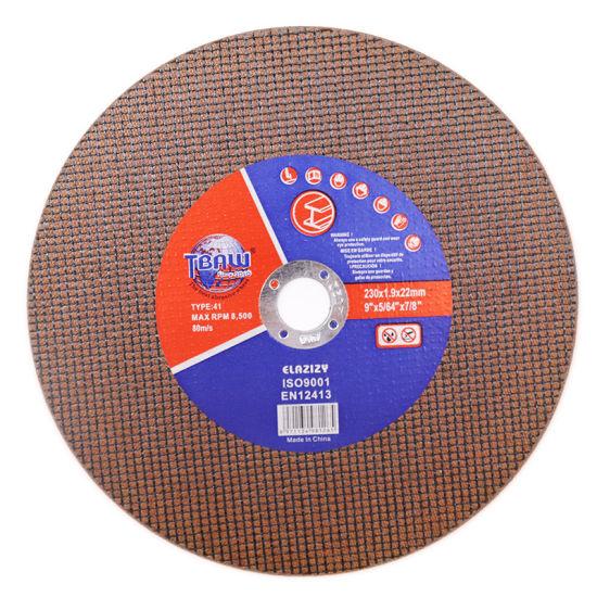 9 Inch T41 Flat Shaped Super Thin Single / Double Net Cutting Wheel for Mrtal