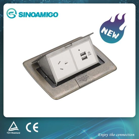 Flush and Suface Zinc Alloy Floor Socket Outlet/Power Socket Floor Box
