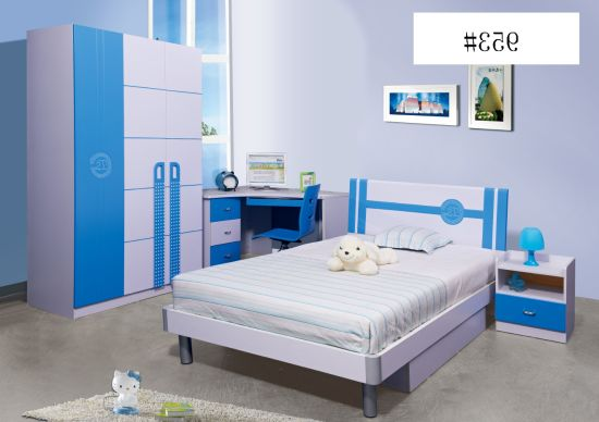 Children Bed Room Sets Kid Furniture Kid Bed Single Bed Bunk Bed High Quality Glossy Kid Bedroom Furniture New Design 2019