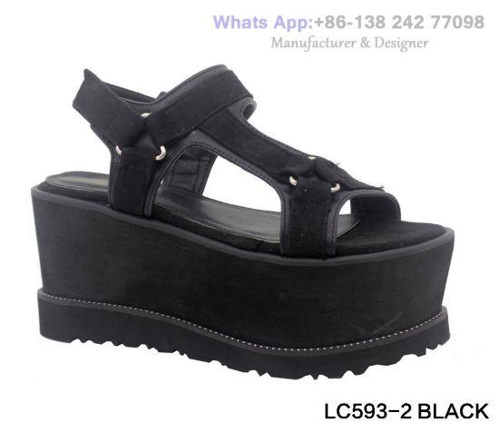 3f838287a01 China Women′s Fashion Footwear Flat EVA Sandals Wedge Platform Shoes ...