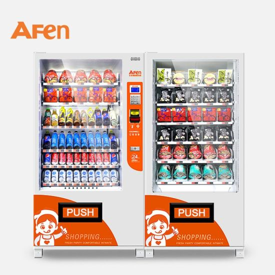 Afen Healthy Snacks and Can Coin Operated Combo Vending Machine for Bars