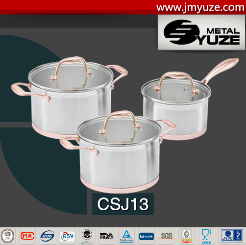 Stainless Steel Cookware Set, Handle with PVD Coating, Kitchen Utensils, Pots and Pans
