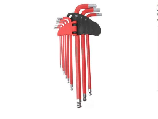 Hand Tools Ball Head Red S2 Hex Key Wrench Set