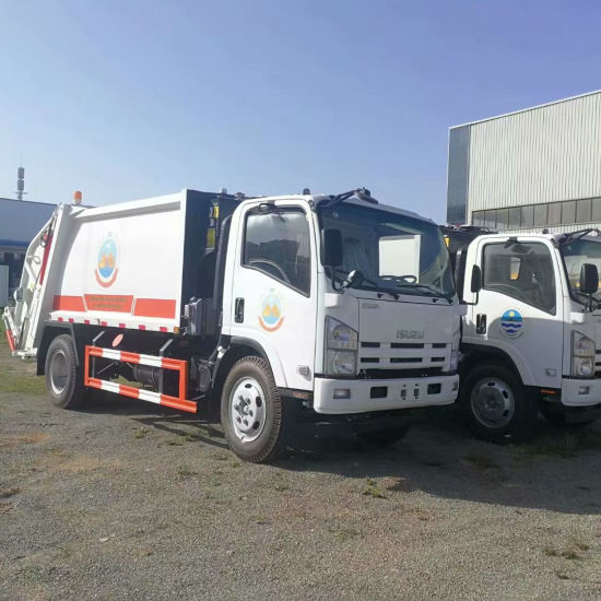 Good Quality Isuzu 700p Euro 4 Euro5 190HP 8tons Compactor Garbage Truck Price for Sale