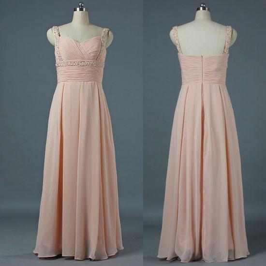New Bead Straps Chiffon Long Celebrity Dresses Maxi Ladies Gown E210