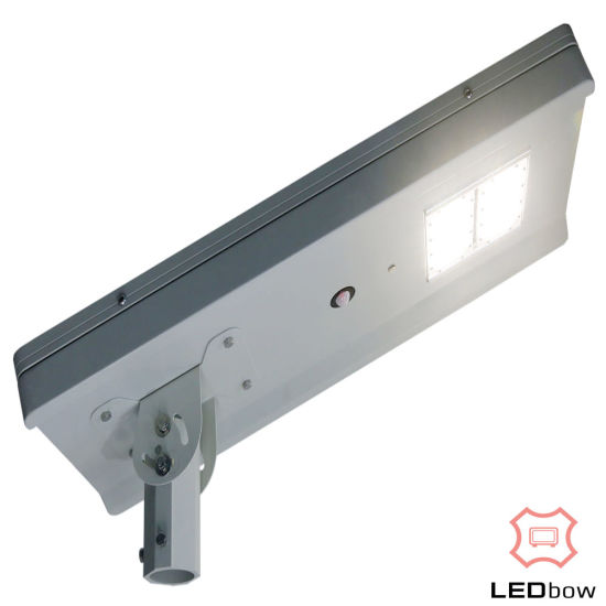 60W All in One Outdoor Integrated LED Solar Street Light Lamp with Motion Sensor, Time Period Control, Auto Dimming