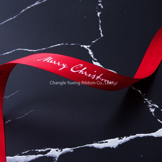 Hot Holiday Decoration, Custom Packaging Printed Grosgrain Ribbon Pg-19 pictures & photos