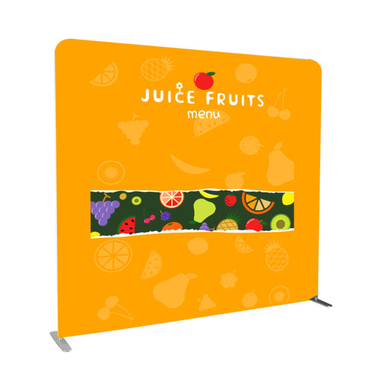 Customized Wall Backdrop Banner Aluminum Frame Display Stand Exhibition Booth