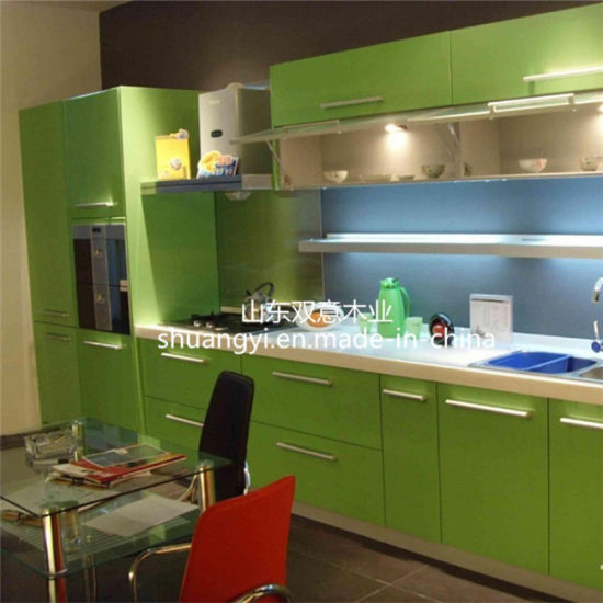 Mdf Carc Modern Shaker Style Kitchen Cabinet For Apartment
