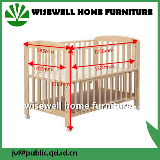 Solid Wood Bed Baby Cot Bed pictures & photos