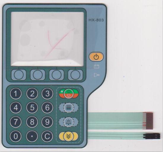 Customize Silk-Screen Printed 3m Adhesive N Infusion Pump Medical Membrane Switch