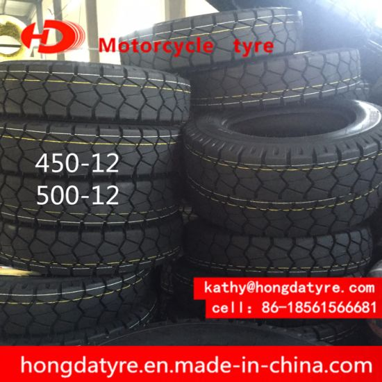 ISO9001 Factory ECE Certificate Stock Low Price Motorcycle Tyre Motorcycle Tire Chinese Tyre Factory Supplier 450-12 pictures & photos