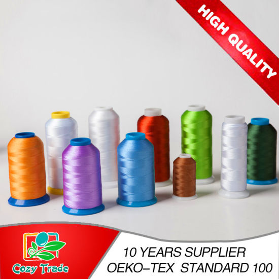 Embroidery Machine Use 108d/2 120d/2 Colorful Polyester Embroidery Thread Industrial Smooth Thread Good Quality pictures & photos