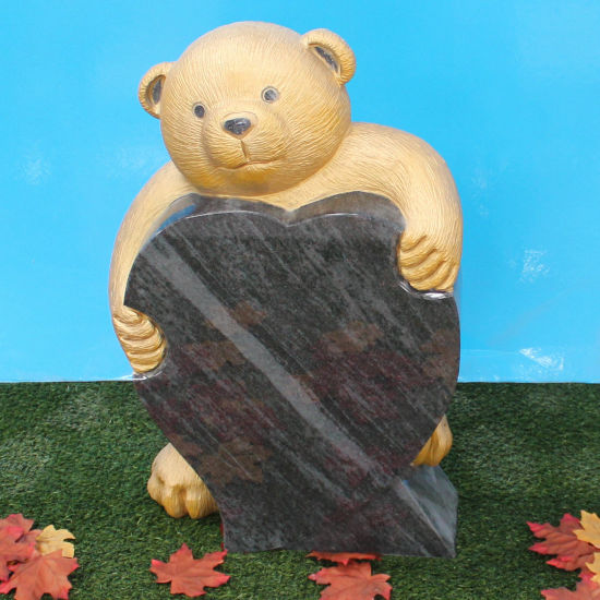 Teddy Bear Bahama Blue Granite Infant Headstone