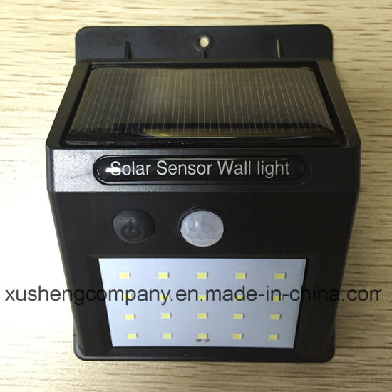 Solar 20LED Infrared Human Sensor Lamp pictures & photos