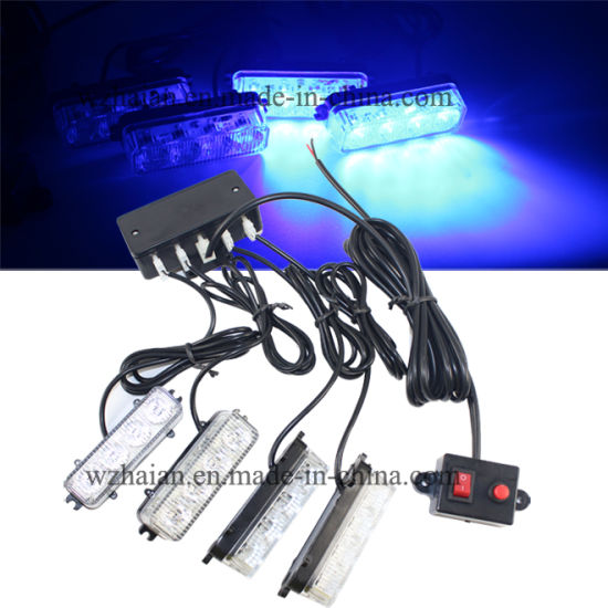 Blue Color Auto LED Strobe Lights (DS868 4C Blue)