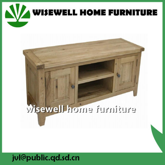 Solid Oak Wood Corner TV Table pictures & photos