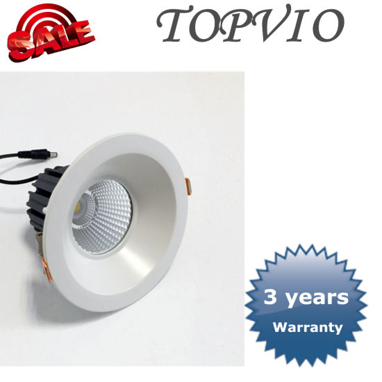 Popular Ce 10W/15W/20W/30W/40W Commercial Recessed Ceiling COB LED Down Light pictures & photos
