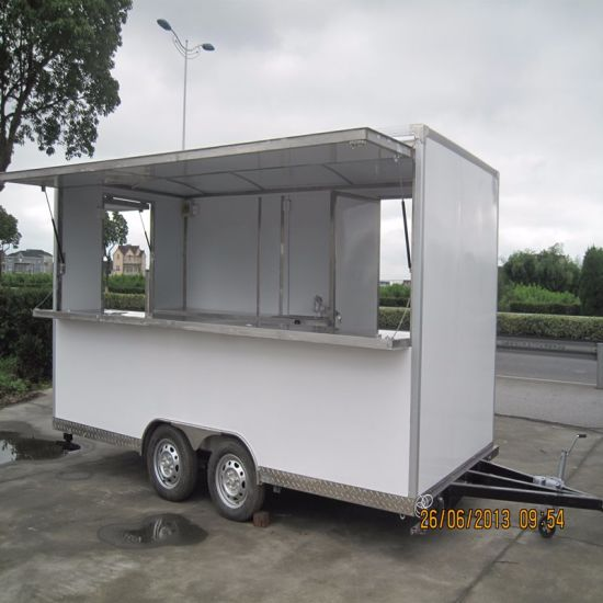 Ce Approved European Quality Chinese Price Mobile Food Cart For Sale Commercial Fast Van Hot Dog Carts Truck