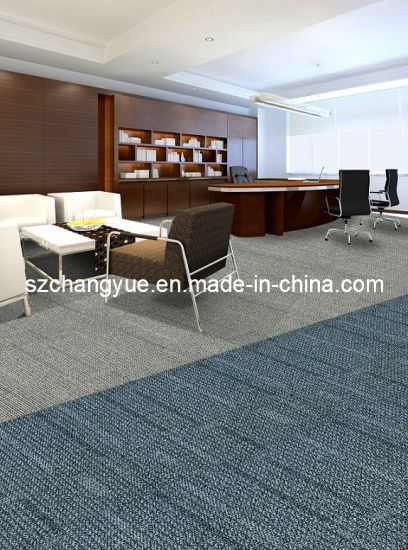 Nylon Modular Modern Office Carpet Tiles With Pvc Backing