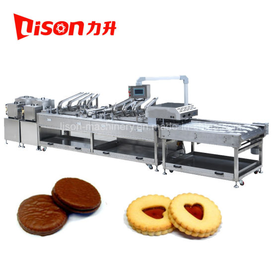 High Speed Biscuit Sandwiching Machine with Rows Multiplier