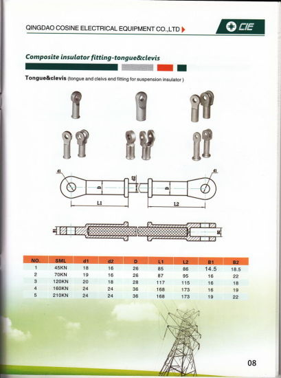 China end fitting for composite insulator with forged