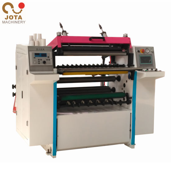 High Efficiency Coreless ATM Paper Slitter Rewinder Roll Slitting Machine