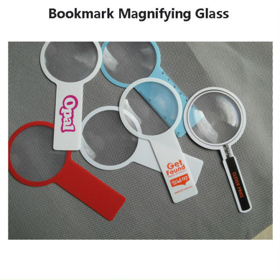 Hw817 140*70mm Promotion Handheld Round Magnifying Glass for Printing pictures & photos
